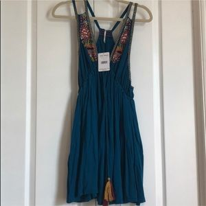 nwt free people turquoise dress
